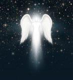 Ängel i natthimlen Arkivfoto