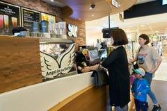 Ängel-i-oss kaffe Fotografering för Bildbyråer