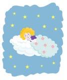 ängel little som sovar Fotografering för Bildbyråer