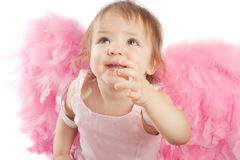 ängel little stående arkivfoto