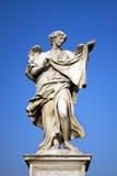 Ängel med den heliga framsidan, Rome, Italien Arkivbild