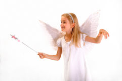 Ängel med en magisk wand Royaltyfri Fotografi