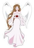 Ängel med hjärta Royaltyfria Bilder