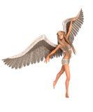 Ängel med vingar Arkivbild