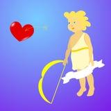 Ängel- och förälskelsehjärta Royaltyfri Foto
