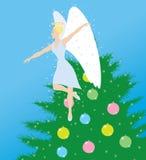 Ängel och jul Fotografering för Bildbyråer