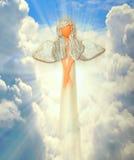 Ängel på himlen Arkivfoto