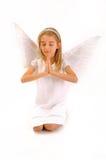 Ängel på vit Royaltyfri Fotografi