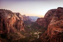 Ängel` s som landar Zion National Park Royaltyfria Bilder