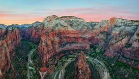 Ängel` s som landar Zion National Park Arkivfoton