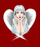 ängelflicka royaltyfri illustrationer