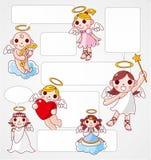 ängelkortanförande stock illustrationer