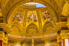 Ängelmosaikhelgon Stephens Cathedral Budapest Hungary Royaltyfri Fotografi