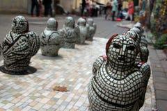 ÄngelmosaikJapan statyer i parkera Arkivfoton