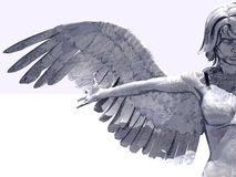 ängelprydnad stock illustrationer