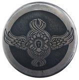 Ängelsymbol på en silverhänge Arkivbilder