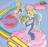 Ängeltagandeanda till himmel Royaltyfri Illustrationer