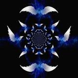 änglalika vingar vektor illustrationer
