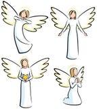 änglar Arkivfoton