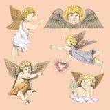 Änglar vektor illustrationer