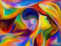 Änglar av färg vektor illustrationer