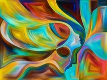 Änglar av färg stock illustrationer