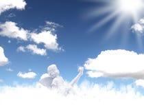 Änglar av himmel Arkivfoto