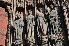 Änglar av Strasbourg Arkivfoto