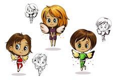 Änglar behandla som ett barn stock illustrationer