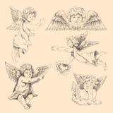 Änglar. Cupids royaltyfri illustrationer