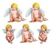 änglar fem Arkivfoto