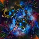 Änglar i färgrik tunnel vektor illustrationer