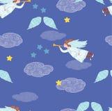 Änglar i himmel stock illustrationer