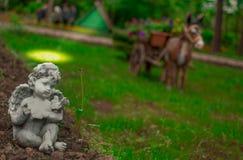 Änglar i parkera Arkivbilder