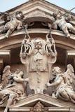 Änglar, kyrka av helgon Vincent och Anastasius på Trevi i Rome Royaltyfria Foton