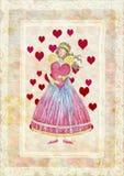 Änglar med hjärta vektor illustrationer
