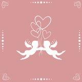 Änglar med hjärtor stock illustrationer