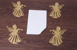 Änglar och ark av papper royaltyfri fotografi