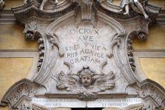 Änglar och epigraf: Hagla det enda hoppet, tillfoga mer nåd till det fromt Arkivbilder