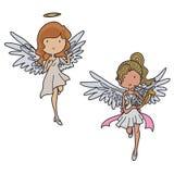 Änglar och jäklar royaltyfri illustrationer