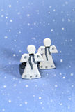 Änglar och snö Arkivfoton