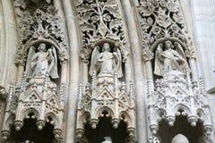 Änglar på portalen av den Zagreb domkyrkan Royaltyfri Foto