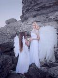 Änglar på stranden Royaltyfria Bilder