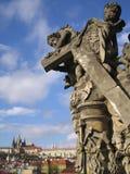 änglar som bearing korset Fotografering för Bildbyråer
