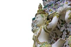 Änglar som dekoreras på väggarna av Wat Arun Temple Ratchawararam Ratchawaramahawihan royaltyfria bilder
