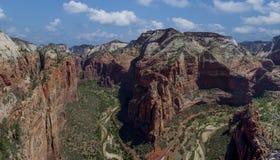 Änglar som landar Zion National Park 3 Arkivfoton