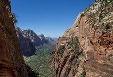 Änglar som landar Zion National Park 7 Royaltyfria Foton