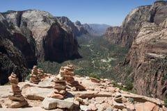 Änglar som landar Zion National Park 7 Royaltyfria Bilder