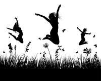 ängsilhouettes Arkivbild