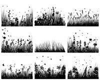 ängsilhouettes Arkivfoton